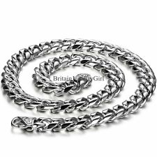 "22"" Men's Jewelry 8mm Stainless Steel Biker Heavy Link Chain Necklace Mens Gift"
