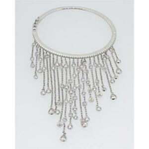Apm MONACO Ladies Women's Jewelry Bangle Sterling Silver Zirconia AB3219OX