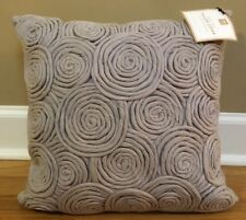 "NEW Pottery Barn Teen Rose Twist 16"" Pillow Cover + Insert GRAY"