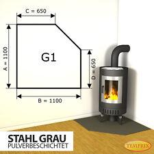 Kaminbodenplatte ✔ Funkenschutz Ofenplatte Ofen Kaminofenplatte ✔ Stahl grau G1