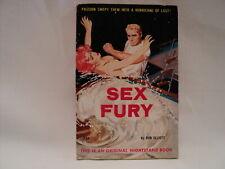 Sex Fury PAPERBACK Don Elliott GGA Erotica Pulp 1962 Nightstand Book 1605 pb 332