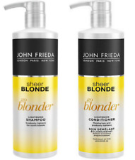 John Frieda Sheer Blonde Go Blonder Shampoo & Conditioner 500ml Pump Bottles NEW