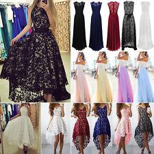 Women Long Chiffon Lace Sleeveless Evening Party Ball Gown Prom Bridesmaid Dress