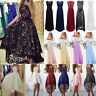 Women Formal Dress Wedding Evening Lace Ball Gown Party Cocktail Bridesmaid 6-14