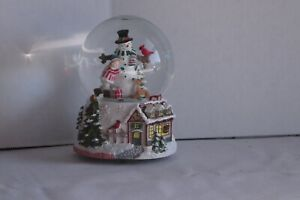 christmas musical snow globe