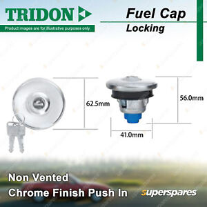 Tridon Locking Fuel Cap for Holden Colorado RC Shuttle WFR Colorado RC Rodeo