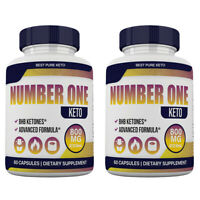 Number One Keto Pills Advanced Weight Loss Appetite Control with GoBHB 2 bottles