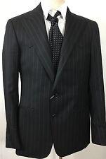 RRL Double RL Ralph Lauren Sport Coat Suit Jacket 38 R Black Pinstripe