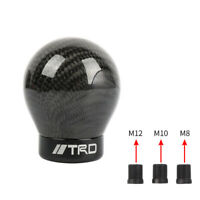 JDM TRD Real Carbon Fiber Black Ball Manual Gear Shift Knob Shifter M8 M10 M12
