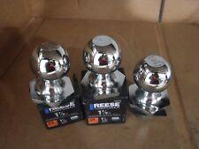 ( 3 Pk) Reese Towpower 1 7/8 x 3/4 x 1-1/2 #7008100,Chrome Hitch Ball New.