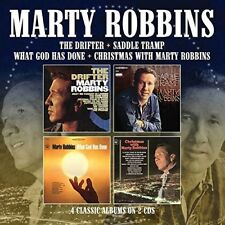 MARTY ROBBINS THE DRIFTER/SADDLE TRAMP/WHAT GOD HAS DONE/CHRISTMAS  2 CD NEW