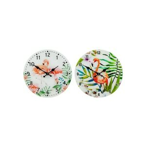 Flamingo Glass Clock Large