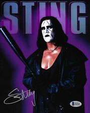 Sting Signed 8x10 Photo BAS Beckett COA WWE WCW TNA Wrestling Picture Autograph