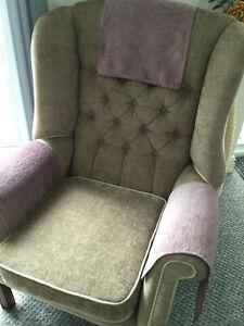 1 X LILAC SOFT Chair Arm Back Cover Antimacassar Sofa Armchair DRAPE