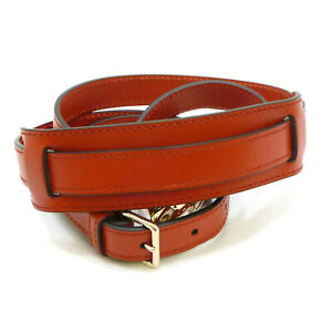 Authentic GUCCI Adjustable Shoulder Strap Red Leather #S406111
