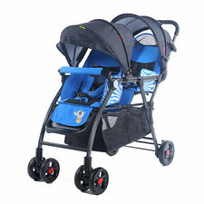 Mm kiddies Tandem Double Pram Twin Stroller New Born Toddler Baby Jogger AU