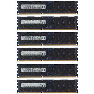 96GB Kit 6x 16GB DELL POWEREDGE R320 R420 R520 R610 R620 R710 R820 Memory Ram