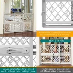 Pet Dog / Baby Fence Gate Child Safety Puppy Cat Door Expandable Plastic Barrier
