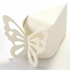48 pk ivory shimmer butterfly party favour boxes