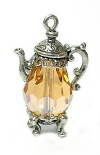 VINTAGE SILVER & champagne Crystal CAFFETTIERA Charm