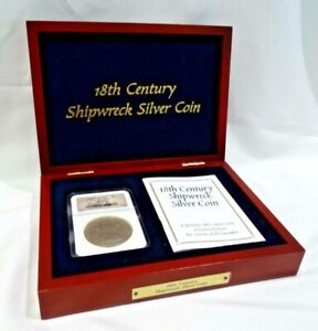 18th Century Shipwreck Silver Coin in Box