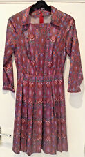 """Vintage Dress ,multi Coloured, Home Made.19"""" Across Chest,42"""" Drop .Film prop ."""