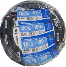 Southwire 49275143 100' 18/5 Multi-Conductor Sprinkler Wire for Outdoor use, 100