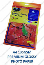 500 SHEETS OF PREMIUM GLOSSY GLOSS A4 PHOTO PAPER 135GSM SUMVISION INKJET PAPER