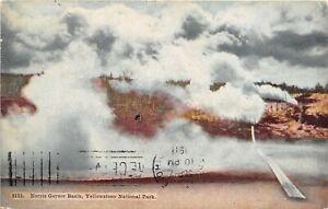 Yellowstone National Park 1911 Postcard Norris Geyser Basin