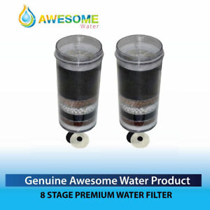 AWESOME WATER®  FILTER - 8 Stage Filter - Premium, 2 Pack