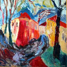 Jean-Pierre Loeffler (1947 - ) ◊ Maison à Valros ◊ Huile / toile signée encadrée