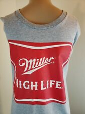 Bayside Miller High Life Men's T Shirt Gray Red Beer Size XL Made in the USA