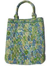Vera Bradley English Meadow Slim Tote Purse Handbag Blue Yellow Green