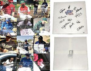1981 L.A. Dodgers Team Signed Autograph World Series Baseball Base Proof Beckett
