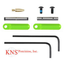 KNS Precision 154 Non-Rotating Anti-Walk Pins with Gen 2 Zombie Green Side Bars