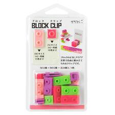 MIDORI Japan BLOCK CLIP 4 Color 24 Clips ( Pink ) - 2017 Japan Stationery Award