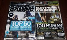 Egm Electronic Gaming Monthly  2 Issue lot  203 206  Brand New Sealed Mint rare