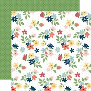 """Echo Park Paper Craft & Create Double-Sided Cardstock 12""""X12""""-Sew Lovely Floral"""