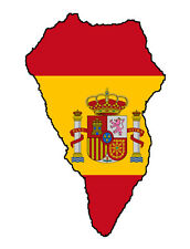 "Auto Aufkleber ""La Palma"" Spanien Spain Decal Sticker!"