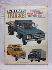 Vintage 1963 Ford Trucks Brochure R-500 F-600 N-500 N-600 C-550 C-600 7 Pages