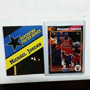 1992 STARTING LINEUP CARD and POSTER MICHAEL JORDAN CHICAGO BULLS