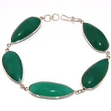 """EMERALD 925 SILVER PLATED BRACELET 9.2"""", AB-8096"""