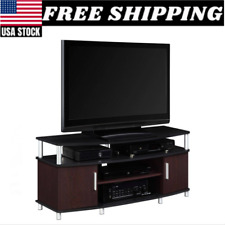 Tv Stand Media Entertainment Center Furniture Storage Console Wood Cabinet New