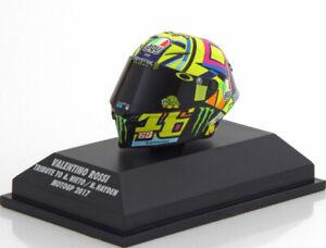 1:8 Minichamps AGV helmet Tribute to Nieto/Hayden, Moto GP Rossi 2017