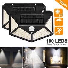 100LED Solar Power Light PIR Motion Sensor Security Outdoor Garden Wall Lamp new