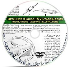 How to Fix & Repair Vintage Old Time Radios - Beginners Guide Books CD C10