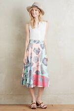 New $178.00 Anthroplogie Patisserie Midi Skirt By Pankaj & Nidhi Sz. XXS-P