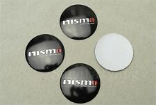 4Pcs Black Nismo Aluminum Alloy Luxury Car Wheel Center Hub Caps Sticker Emblem