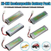 4300/4600/5000/5300/6800mAH 7.2V Ni-MH Battery Pack   Rechargeable For Toy