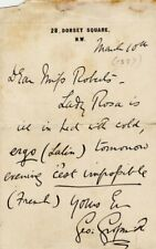 *GILBERT & SULLIVAN GEORGE GROSSMITH 1887 AUTOGRAPH LETTER DURING RUDDIGORE RUN*